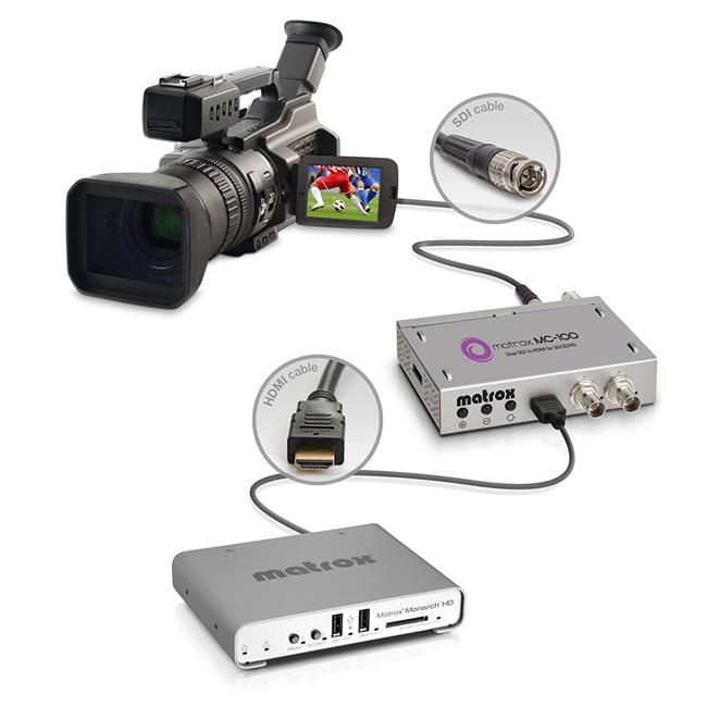 setup Monarch HD MC 100 camera