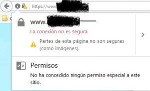 Web no segura